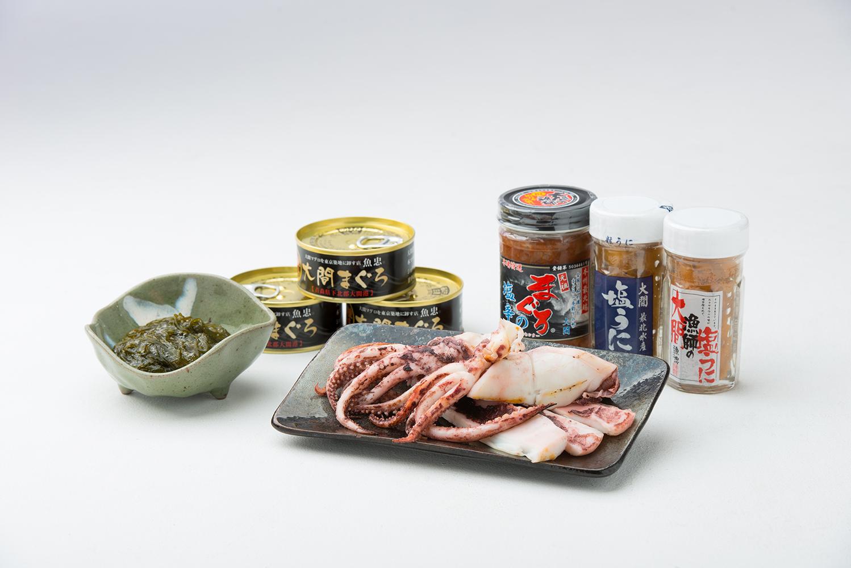 マグロ・ウニ・イカ