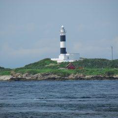 弁天島と大間埼灯台
